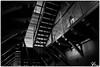 Kakola 04 (ViTaRu) Tags: canon 5dmk2 1635mmf28l prison correctionalfacility abandoned kakola monochrome blackandwhite bw dark stairs lines corridor cells perspective turku varsinaissuomi finland
