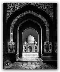 Temple of Love! (FotographyKS!) Tags: tajmahal tejomahalay love shiv templeoflove symbol architeccture historic heritage historical soulful dramatic worldwonders monochrome blackandwhite perception angles through mausoleum monument agra jewel artistic art landmark cityscape traveller travelbug traveladdict photography travel nikon bw blackwhite mono nopeople india
