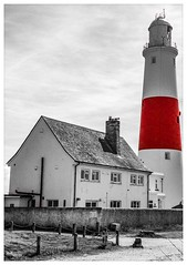 Portland Bill Light House (tomthompson5) Tags: tomthompson blackandwhite red lighthouse portlandbill