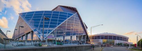 Mercedes-Benz Stadium and the Georgia Dome