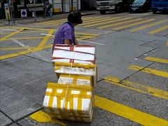Hong Kong (- Jacques) Tags: hongkong street woman boxes lx5