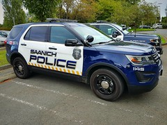 Saanich PD, BC Patrol Vehicle 1145 (2) (walneylad) Tags: saanich britishcolumbia canada policedepartment policeservice policeforce constabulary emergencyvehicle policevehicle patrolvehicle fuzz blackandwhite blueandwhite policecar patrolcar copcar squadcar pandacar ford suv 1145