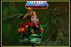 """HEMAN and BATTLECAT (""""Orion Pax"""") Tags: heman motu lego battlecat mattel mastersoftheuniverse"""