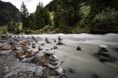 Stacked stone flow - Glacier river [Explored - 8-8-2017] (Boxgrove Photography) Tags: stubai vakantie canoneosm3 canonefs1018isstm mountains ndfilter bigstopper longexposure river glacier