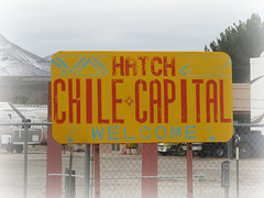 (Green) chile capital (jimsawthat) Tags: welcomesign metalsign hatch newmexico green chile smalltown greenchile