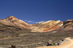 Traveling through Northern Chile (Joost10000) Tags: chile suriplaza putre arica landscape vulcano road vulcan andes highlands altiplano wild wilderness red orange epic colour color scenic nature natur iquilla mountain mountains landschaft southamerica canon canon5d eos beauty