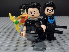 Grayson Through the Years (MrKjito) Tags: lego minifig super hero comic comics robin nightwing dick grayson batman custom agent spyral dc comisc old teen titan
