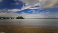 Blankenberge belgium (1) (YᗩSᗰIᘉᗴ HᗴᘉS +8 500 000 thx❀) Tags: blankenberge belgium longexposure water sea sable mer sky clouds hensyasmine