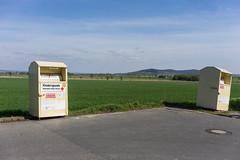 Entzweit (duesentrieb) Tags: altkleidercontainer charitybin container deutschland germany gulli landscape landschaft lowersaxony manhole niedersachsen wolfenbüttel