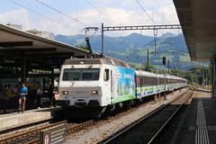 2017-08-12, SOB/CFF, Uznach (Fototak) Tags: eisenbahn treno railway switzerland voralpenexpress vae re456 sob 456091