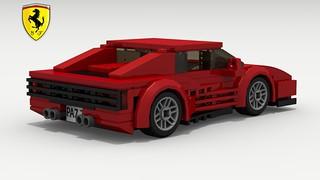 Ferrari Testarossa (revised) (rear view) (logo)
