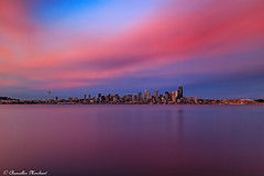 Candyland (Endless Reflection Photography) Tags: seattle downtownseattle longexposureseattle longexposure elliottbay westseattle alkibeach seattleskyline seattlesunset pacificnorthwest endlessreflectionphotography cmerchant1 ereflectionphotos pugetsound longexposurepugetsound streetmeetwa moodyphotography clouds