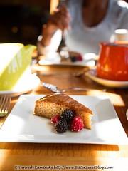 Stanford Inn - Vanilla Cake (Bitter-Sweet-) Tags: vegan food mendocino california northerncalifornia stanfordinn diningwiththeravens restaurant finedining chef gourmet snack dessert cake berries vanilla syrup tea afternoon sweet