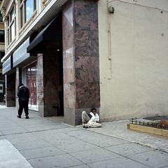Minneapolis-July-2017 (kaumpphoto) Tags: homeless destitute minneapolis street urban city 120 rolleiflex man sidewalk poor indifference stone marble concrete journalistic