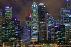 Colourful Singapore (Rahul Gaywala) Tags: bay bayfront boardwalk bridge colorful hdr helix marina night sands singapore