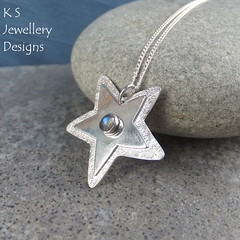 Labradorite Shiny Star Sterling Silver Pendant (KSJewelleryDesigns) Tags: metalwork pendant necklace jewellery jewelry handmade brightsilver shine sterlingsilver silverjewellery handcrafted silver silverwire metal hammered shiny polished bright soldered soldering brushed petals sawing piercing metalsmith metalsmithing silversmith silversmithing gemstone cabochon stonesetting star labradorite starpendant