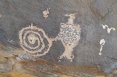 Petroglyphs / Mill Creek Canyon (Ron Wolf) Tags: anthropology archaeology fremont moab nativeamerican anthromorph anthropomorph petroglyph rockart spiral utah