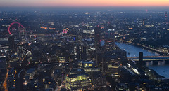 Metropolis: London - View from The Shard London Bridge (claudios53) Tags: panorama landscape notturno night luci shard grattacielo skyscraper city building londra london glass metropoli bridge sunset