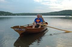 Nice day for a row around Chenango Lake (Chenango Pete) Tags: boat oar dreamliner clc noodles dacron stitchbuild chesteryawl