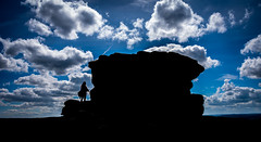 at one with nature (Phil-Gregory) Tags: silhouette nikon d7200 sigma18250macro rock girl sky clouds peakdistict overpalertor mothercap national nature nationalpark naturalphotography naturalworld natural naturephotography countryside colour scenicsnotjustlandscapes ngc light
