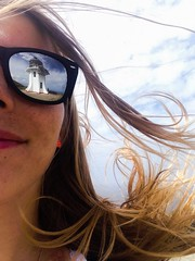 It's windy at the end of the World (doubleshotblog) Tags: frontcamera doubleshotblog doubleshot gustofwind lighthouselover nz attheend iphonephotography iphoneography iphone5 reflectioninglasses reflection sunglasses glassesselfie slefie endoftheworld wind aotearoa newzealand northisland lighthouse capereingalighthouse capereinga
