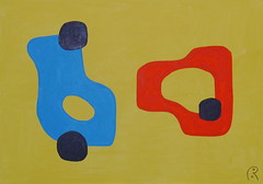 Dialectical Opposition   by Jan Theuninck, 2017 (Gray Moon Gallery) Tags: dialecticalopposition jantheuninck oppositiondialectique dialecticalmethod discourse blue yellow black red democracy