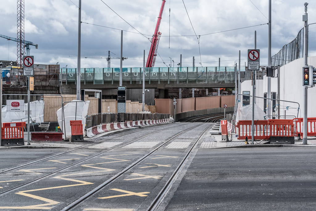 THE NEW LUAS TRAM STOP AT BROADSTONE [TESTING PHASE UNTIL EARLY DECEMBER]-1324716