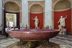 Sala Rotonda in Vatican Museum - Nero's Bath (e_kopsch) Tags: vatican museum italy roman otricoli sala rotonda nero bath porphyry mosaics vaticancity