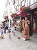 Bubbles (catrionatv) Tags: winchester highstreet pentice shops flowers staff streettheatre performer act performance statuette audience children bucket bubbles