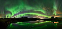 Lake Cabin (orvaratli) Tags: iceland aurora northernlights auroraborealis nightshot night sky astrophotography arctic kleifarvatn lake geothermal house hut arcticphoto volcanic explore solarwind