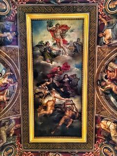 Paris  ~ France ~ Louvre Museum ~ Historic Monument ~ Ceiling Mural