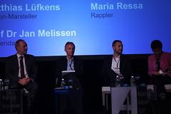 Matthias Lüfkens, Jan Melissen, Vincent Harris, Maria Ressa at plenary one