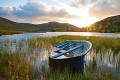 Loch Talt, Co. Sligo, Ireland (7arran7) Tags: boat sunset sligo mayo flare
