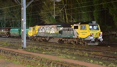 70020 on a layover at Ipswich Station Sidings on a cold and damp February evening. 03 02 2017 (pnb511) Tags: electric traction loco locomotive diesel trains railway ipswich greateasternmainline geml freightliner class70 sidings track dark night time