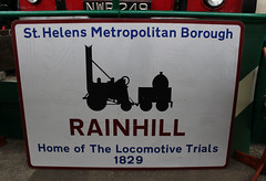 Rainhill Trials Sign (big_jeff_leo) Tags: transport museum bus sthelens england english vehicle