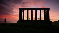 a new day (andrewmckie) Tags: caltonhill nationalmonument edinburgh scotland scottish sunrise silhouette