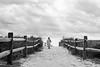 The anticipation (ranzino) Tags: 35mm emerson film ilford ilfordxp2 jerseyshore newjersey stoneharbor beach blackandwhite boogieboard nj shore vacation unitedstates us