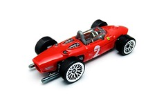 HotWheels - Ferrari 156 (Leap Kye) Tags: hotwheels car toy model diecast armedclown309 vehicle automobile sports race racing 164 sharknose air intake f1 formula one championship 1961 60s slim cockpit shell ferrari 156 italy prancing horse red color 2 bulbous teardrop engine display rivet