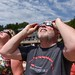 College of Sciences Dean Bill Ditto donned protective eyewear to watch the eclipse.