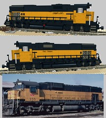 SP&S Alco C636 test (swoofty) Tags: lego train sps spokaneportlandseattle alco c636