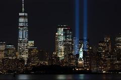 9/11 Memorial Beacons Lower Manhattan (Brian E Kushner) Tags: new york 911 memorial newyork911memorial city jersey freedom tower one world trade center beacon spire never forget ©brianekushner nikon d850 nikond850 nikon300mmf40dedifafsnikkorlens 300mm f4 nikor