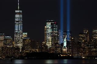 9/11 Memorial Beacons Lower Manhattan