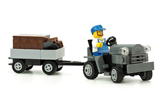 Aircraft Tow Tractor (de-marco) Tags: lego city town aircraft tractor tug tow