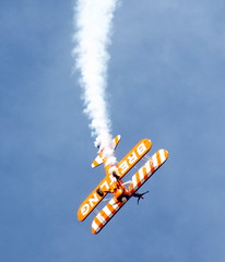 DSCN40584 (dkmcr) Tags: southportairshow southport airshow aircraft aeroplane formation display aerobatic 17th september 2017 flying breitli boeing stearman wingwalker