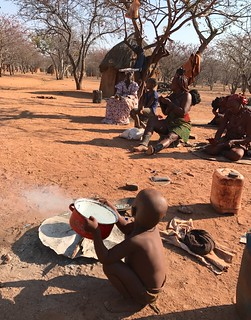 Himba People's Village Kamanjab Damaraland Namibia Southern Africa