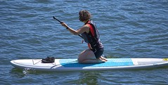 Paddle Board (swong95765) Tags: river water paddle board woman female lady exercise recreation kneeling