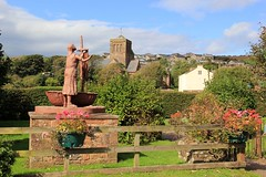 St. Bees - 2017-09-15 - In Explore! (BillyGoat75) Tags: stbees priorychurch stbega statue gardens cumbria
