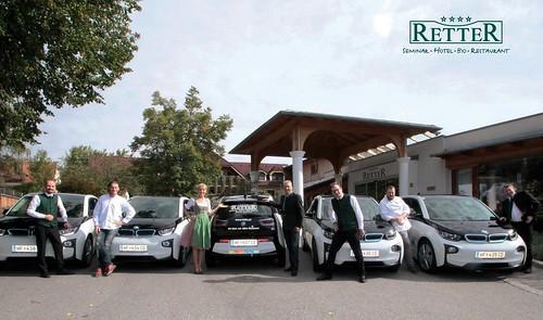Umweltfreundliche Autos beim RETTER Seminar Hotel Bio Restaurant