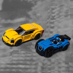 Corvette & Chiron remake mocs (KEEP_ON_BRICKING) Tags: lego speed champions 75878 75870 remake moc mod legomoc car conceptcar blue yellow crew custom design brick awesome ig instagram good keeponbricking
