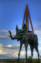 Dali's Elephant (David K. Edwards) Tags: statue sculpture dali quebeccity quebec canada hotel lechateaufrontenac